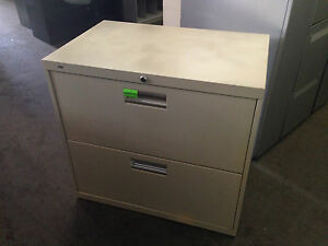 2dr 30 w Lateral Size File Cabinet By Hon Office Furn W lock key Pick Up Only
