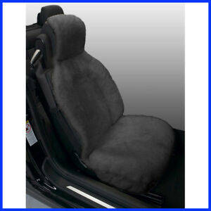 no Tax Gray Sideless Sheepskin Seat Cover