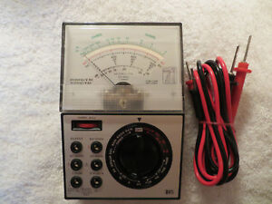 Radio Shack Vintage Micronta 22 202u Multitester Maltimeter W Probs