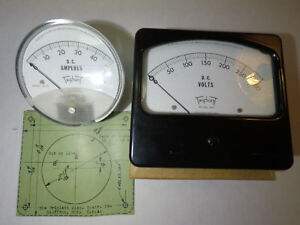 New Triplett Panel Meter 320 Dc 0 300 Volts Dc And 321 Pl Dc 0 50