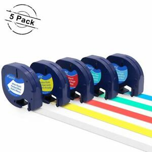5pk 91331 91332 Compatible With Dymo Letratag Plastic 1 2 Label Tape Refills