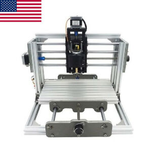 Cnc 2417 Mini Diy Mill Router Kit Desktop Metal Engraver Pcb Milling Machine Us