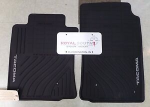 Toyota Tacoma 2005 2011 Factory All Weather Rubber Floor Mats Genuine Oem Oe