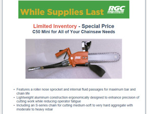 Hydraulic Concrete Chain Saw Rgc C50 13 Bar Chain 8 Gpm
