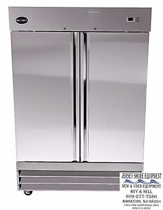 Saba S 47r Heavy Duty Commercial Reach in Refrigerator Two Door Ss Cooler