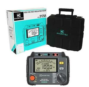 Kewtech Kyoritsu Kew3125a High Voltage Insulation Tester 250 5000v With Filter
