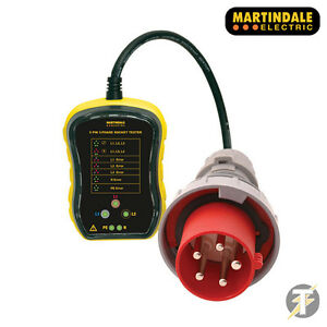 Martindale Pc105 63a 3 Phase Industrial Socket Tester 7 Wiring Condition Check