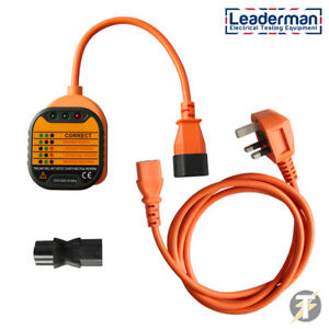 Leaderman Earth Continuity And Polarity Test Kit With Iec Extension Lead Ecp k4
