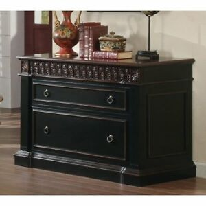 Rowan 2 drawer File Cabinet Black And Chestnut