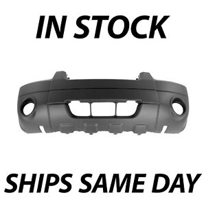 New Textured Front Bumper Cover Fascia For 2005 2006 2007 Ford Escape Xlt W Fog