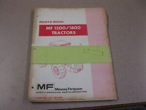 Massey Ferguson Mf 1500 1800 Tractor Parts Book