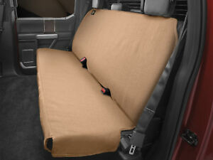 Weathertech Medium Highback Bench Seat Protector For Trucks Cars Suvs In Tan