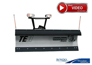 Trip Edge Stainless Steel Snow Plow Snowdogg Te75ii Reliable Strong See Vide0