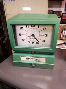 Acroprint Time Recorder Vintage Time Clock