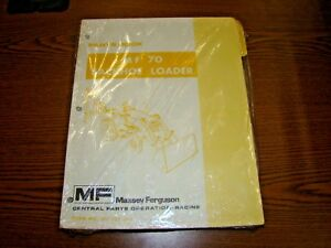 Massey ferguson Mf 70 Backhoe Loader Parts Book Manual Factory Original Oem Nos