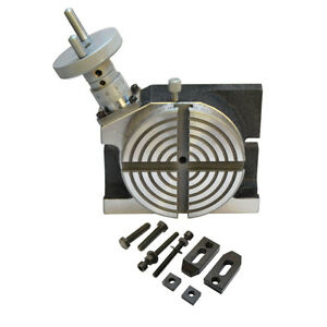 Heavy Duty 4 H v Rotary Table Horizontal Vertical 100mm For Milling Machine