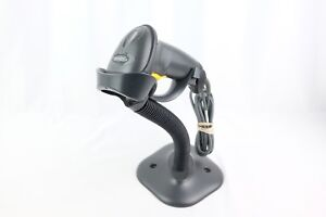 Motorola Symbol Ls2208 Sr20007r Barcode Scanner With Stand Usb Cable