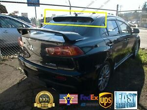 Mugen Style 3d Wavy Black Rear Roof Window Visor Spoiler Fit 2008 17 Lancer Evo
