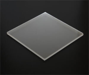 1 8 3mm Matte Acrylic Sheet Frosted Clear Plexiglass 12 x12 P95 Azm