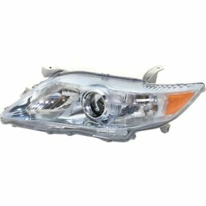Headlight For 2010 2011 Camry Left Usa Built Halogen With Bulb Capa