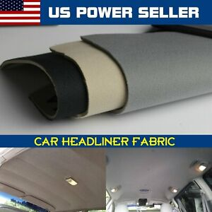 Car Boat Interior Roof Headliner Fabric Upholstery Material Foam Backed Decorate