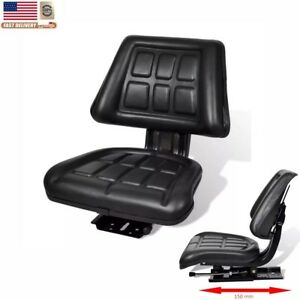 Universal Tractor Seat Backrest Excavator Chair Track Compact Mower Seat Black