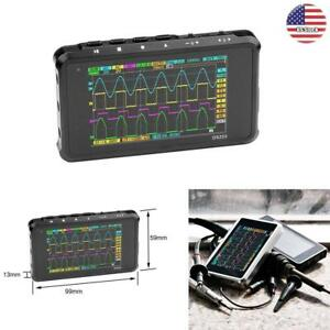 Mini 4 ch Usb Rechargeable Digital Oscilloscope Color Tft Lcd 8mb Memory 72ms s