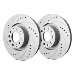 For Audi 80 Quattro 88 92 Drilled Slotted 1 Piece Front Brake Rotors