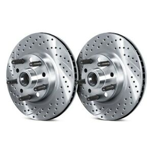 For Mercury Bobcat 75 80 Brake Rotors Drilled Slotted 1 piece Front Brake