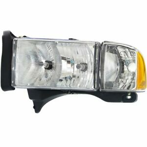Headlight For 99 2001 Dodge Ram 1500 Left Halogen Clear Lens With Sport Package