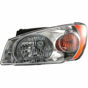Headlight For 2004 2005 Kia Spectra Left Halogen Clear Lens With Bulb