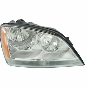 Headlight For 2003 2004 Kia Sorento Right Halogen Clear Lens With Bulb