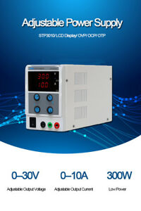 Dc Power Supply Adjustable Digital 30v 10a Switching Test Voltage Stabilizer