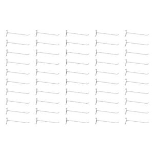 50 Pc Gloss White 12 Long Gridwall Hooks Grid Panel Display Wire Metal Hanger