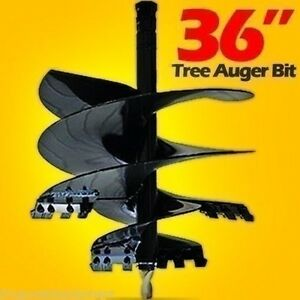 36 Tree Auger Bit For Skid Steers Tractors 48 Long 2 Hex Shaft made Usa