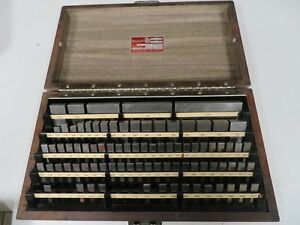 Starrett Webber Rs86a1 Steel Rectangular English imperial Gage Block Set Nd2