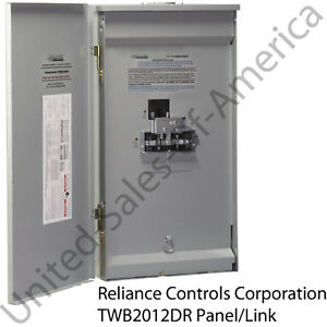 Reliance Controls Panel Link Circuit Breaker 125a Generator Transfer Switch Gift