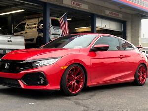 18 M186 Niche Misano Candy Red Wheels Rims Tires Package 5x4 5 Honda Civic