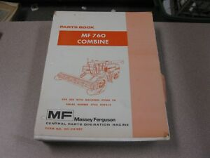Massey Ferguson Mf 760 Combine Parts Book