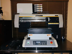 Mimaki Ujf 3042 Hg Flat Bed Uv Inkjet Printer With Kebob And Ss Table