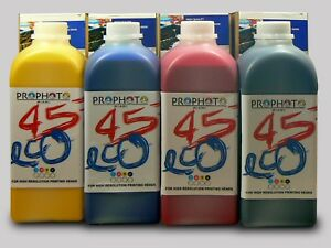 4 Liter Eco Solvent Ink Kit Mutoh Roland Mimaki Epson Heads Dx5 Dx7 Usa Seller