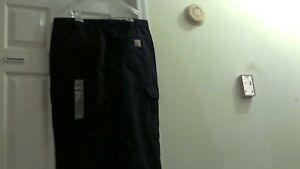 New Carhartt Flame resistant Cargo Safety Work Pants 36 X 30 Blue W o Tags