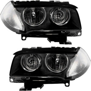 Halogen Headlights Headlight Assembly W bulb New Pair Set For 2007 2010 Bmw X3