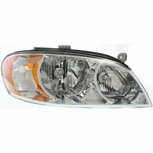 Headlight For 2002 2004 Kia Spectra Right Sedan Clear Lens Halogen Composite