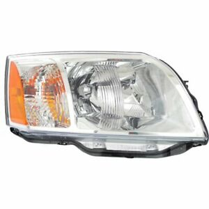 Headlight For 2004 2008 Mitsubishi Endeavor Right Clear Lens Halogen Composite