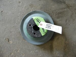 John Deere 4620 Tractor Double Pulley Off Of Front Engine Tag 649
