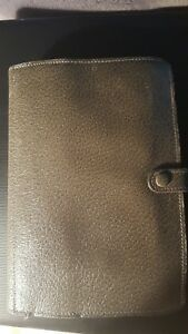 Vintage Filofax Organizer Made In England Pigskin Grey Gray Personal Pamphlet