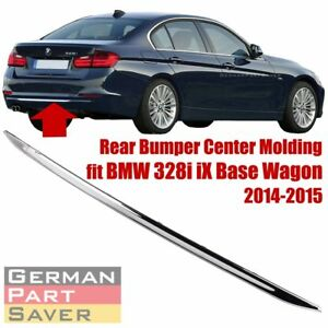 Rear Bumper Center Chrome Strip Trim Moulding For Bmw F30 F31 3 Series M3