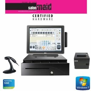 Single Station Touchscreen All In One Pos System Salon Configuration Fast