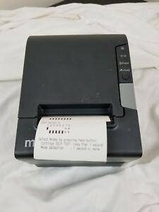 Epson Tm t88v M244a Ethernet And Standard Port Thermal Receipt Printer Micros